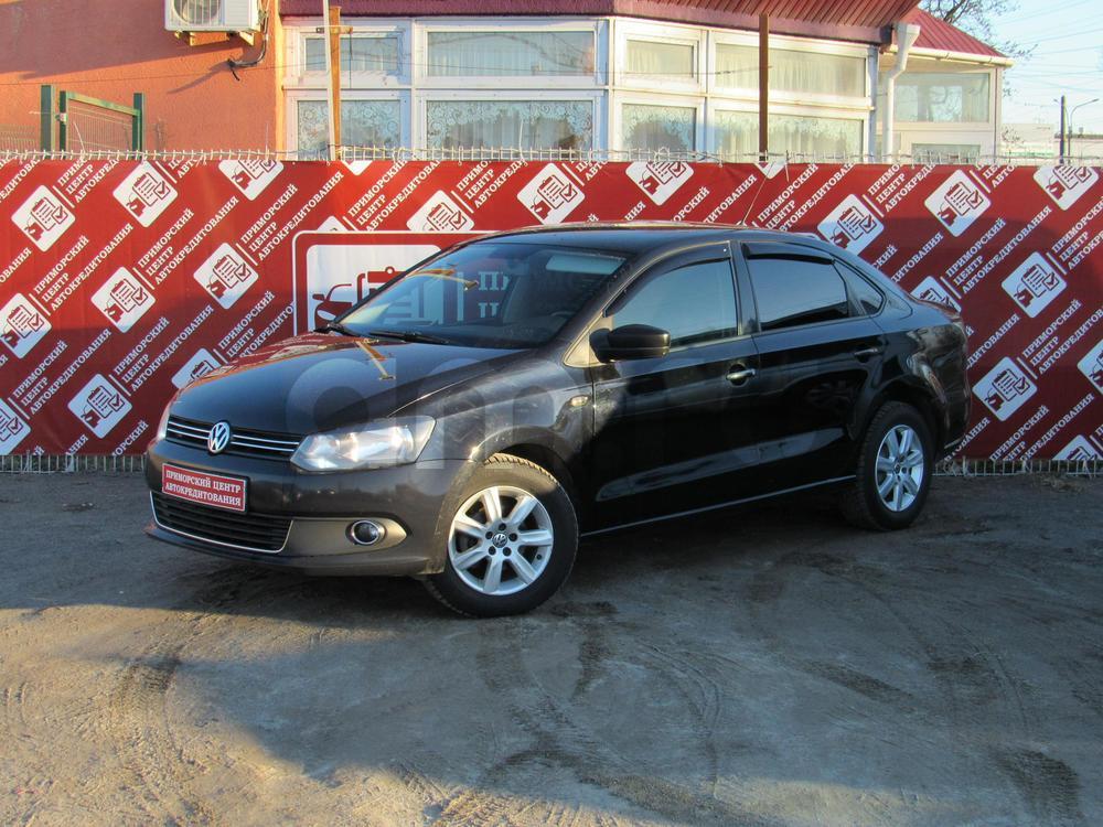 Volkswagen Polo с пробегом, черный , отличное состояние, 2012 года выпуска, цена 399 000 руб. в автосалоне  ()