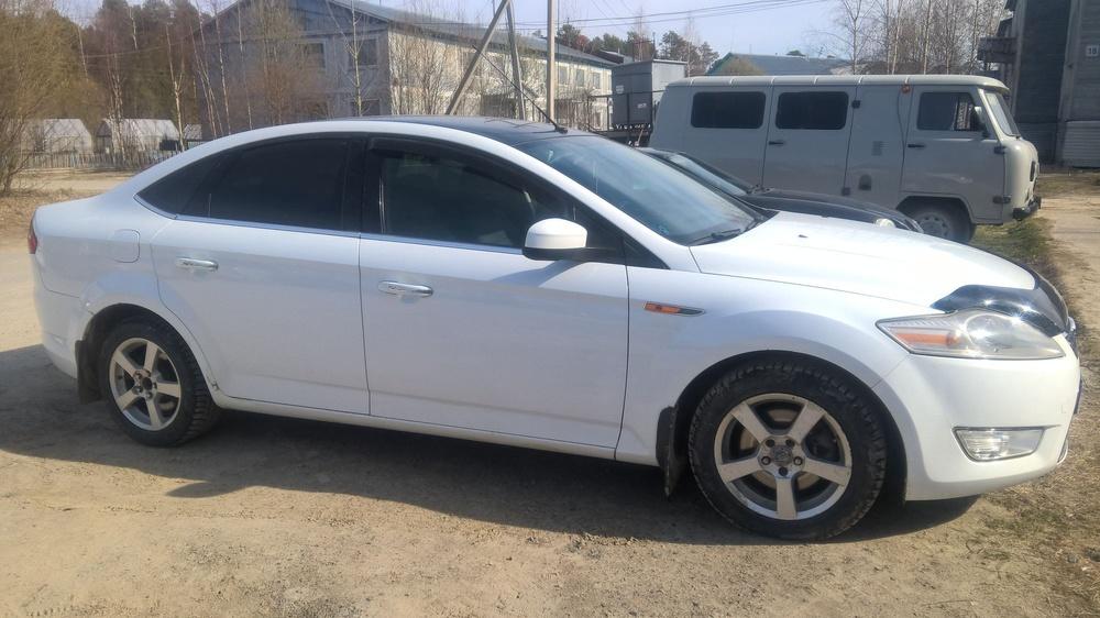 Подержанный Ford Mondeo, хорошее состояние, белый , 2008 года выпуска, цена 430 000 руб. в Тюмени