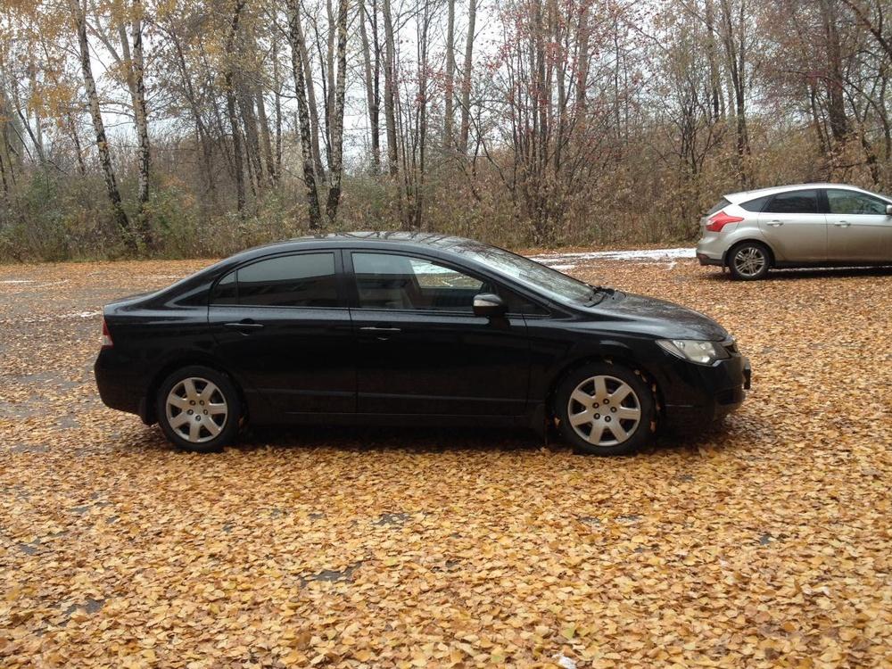 Подержанный Honda Civic, хорошее состояние, черный , 2007 года выпуска, цена 450 000 руб. в республике Татарстане