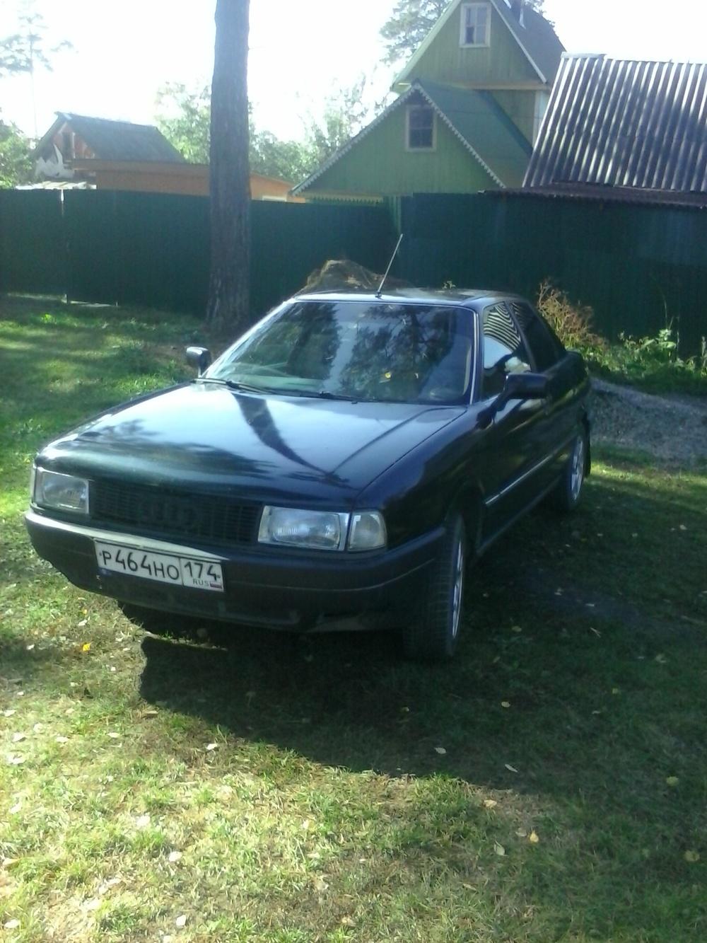 Подержанный Audi 90, хорошее состояние, черный металлик, 1989 года выпуска, цена 120 000 руб. в Челябинской области