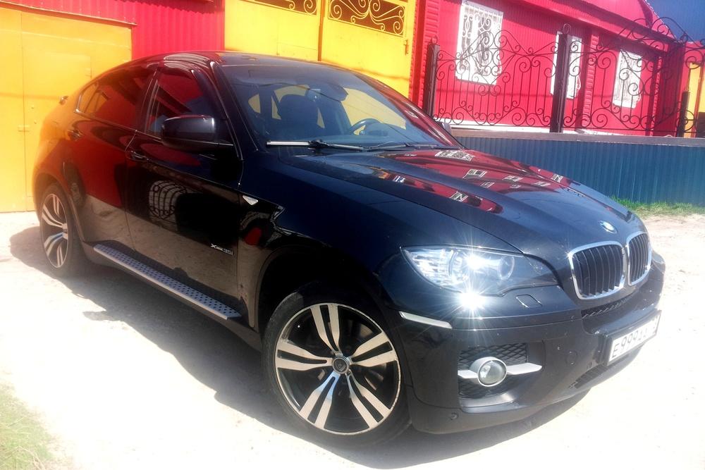 Подержанный BMW X6, отличное состояние, черный металлик, 2008 года выпуска, цена 1 100 000 руб. в Ульяновске