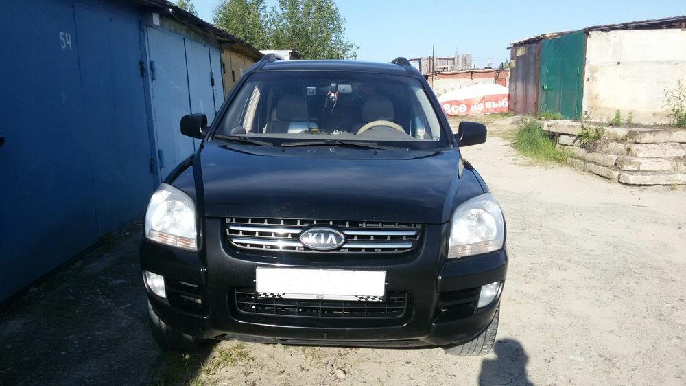 Подержанный Kia Sportage, хорошее состояние, черный , 2006 года выпуска, цена 530 000 руб. в ао. Ханты-Мансийском Автономном округе - Югре