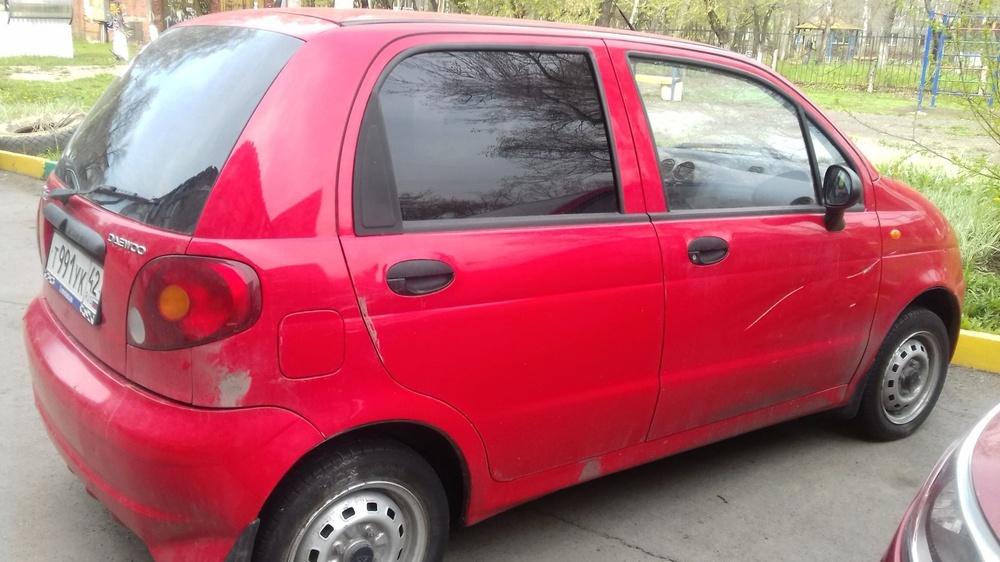Подержанный Daewoo Matiz, отличное состояние, красный , 2010 года выпуска, цена 120 000 руб. в Кемеровской области