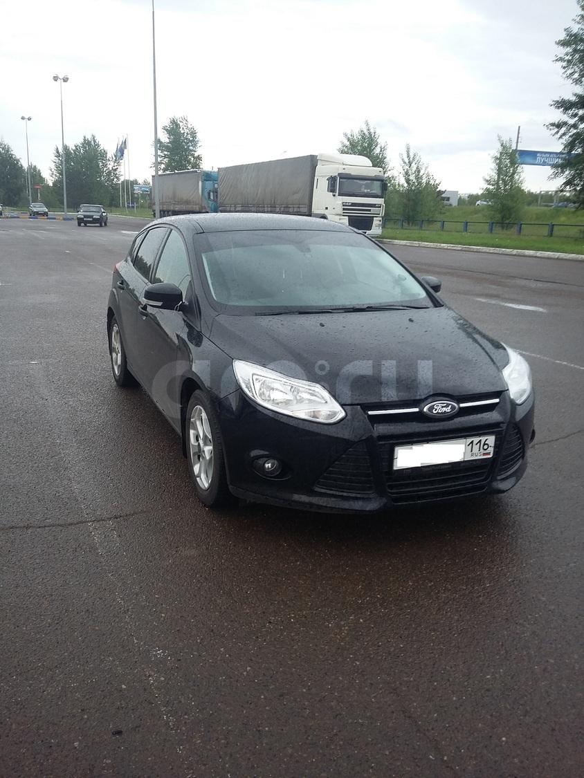 Подержанный Ford Focus, хорошее состояние, черный , 2013 года выпуска, цена 580 000 руб. в республике Татарстане