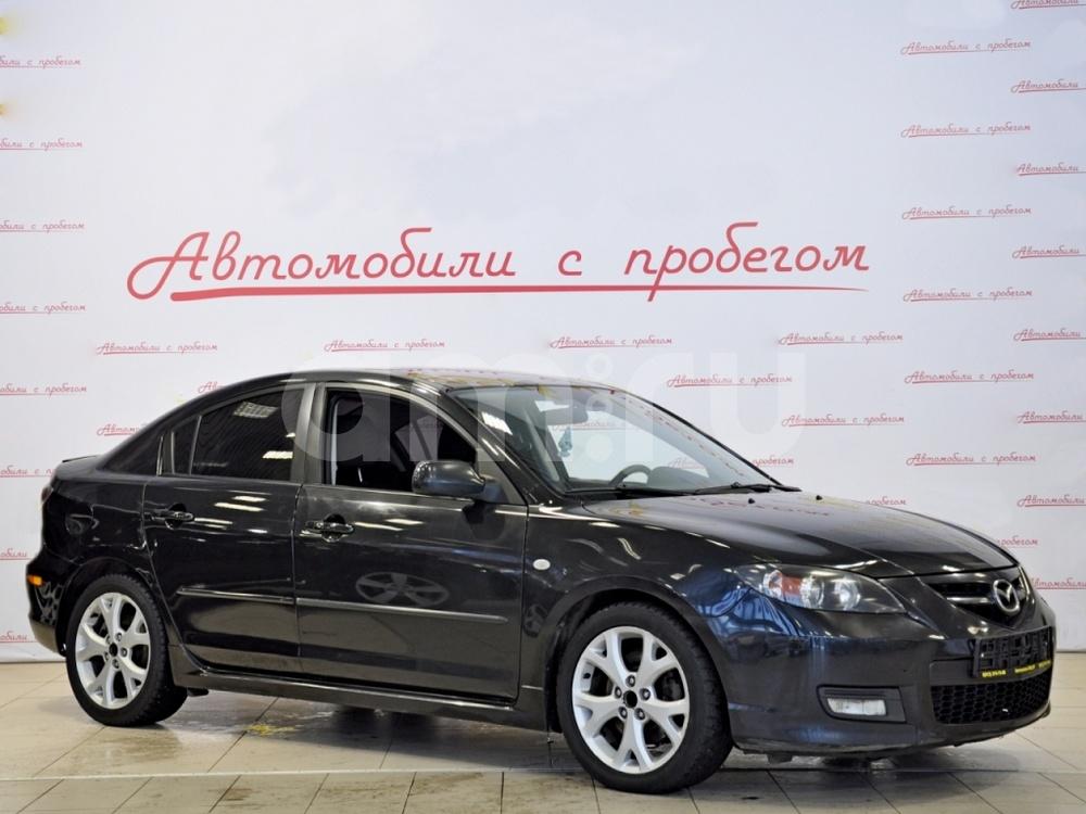 Mazda 3 с пробегом, черный , отличное состояние, 2008 года выпуска, цена 329 000 руб. в автосалоне  ()