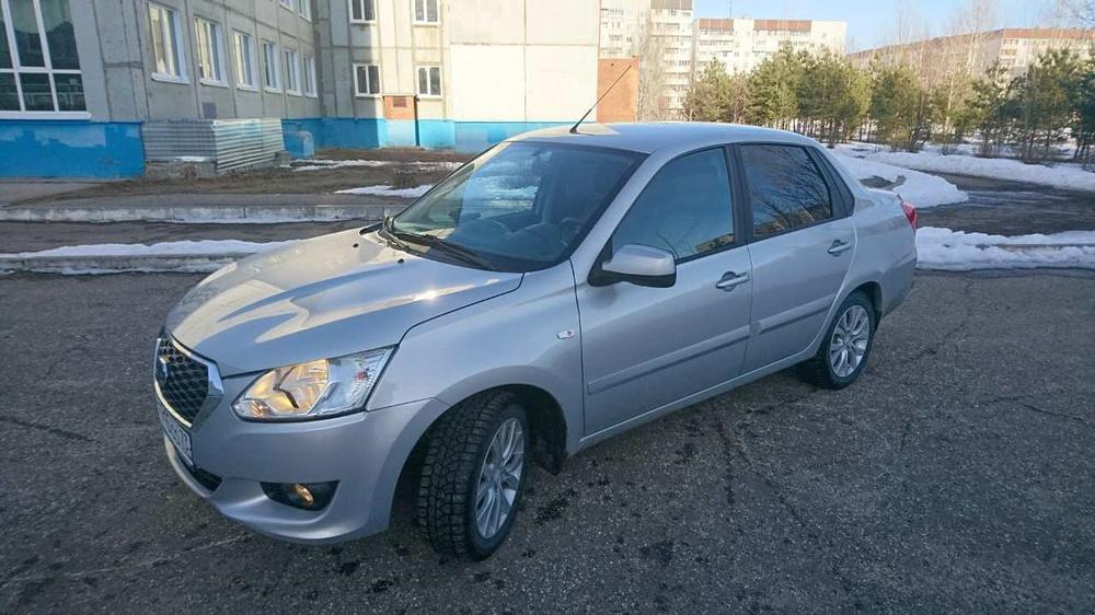 Подержанный Datsun on-DO, отличное состояние, серебряный металлик, 2016 года выпуска, цена 450 000 руб. в Ульяновске