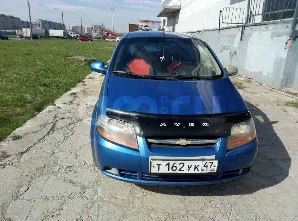 Подержанный Chevrolet Aveo, хорошее состояние, синий , 2006 года выпуска, цена 180 000 руб. в Санкт-Петербурге