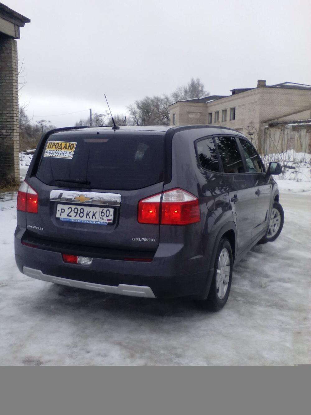 Подержанный Chevrolet Orlando, отличное состояние, серый перламутр, 2013 года выпуска, цена 750 000 руб. в Пскове