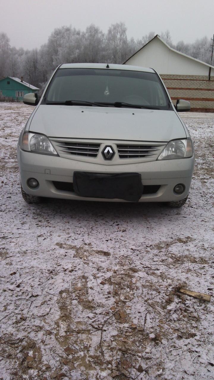 Подержанный Renault Logan, хорошее состояние, серебряный , 2007 года выпуска, цена 265 999 руб. в Смоленской области