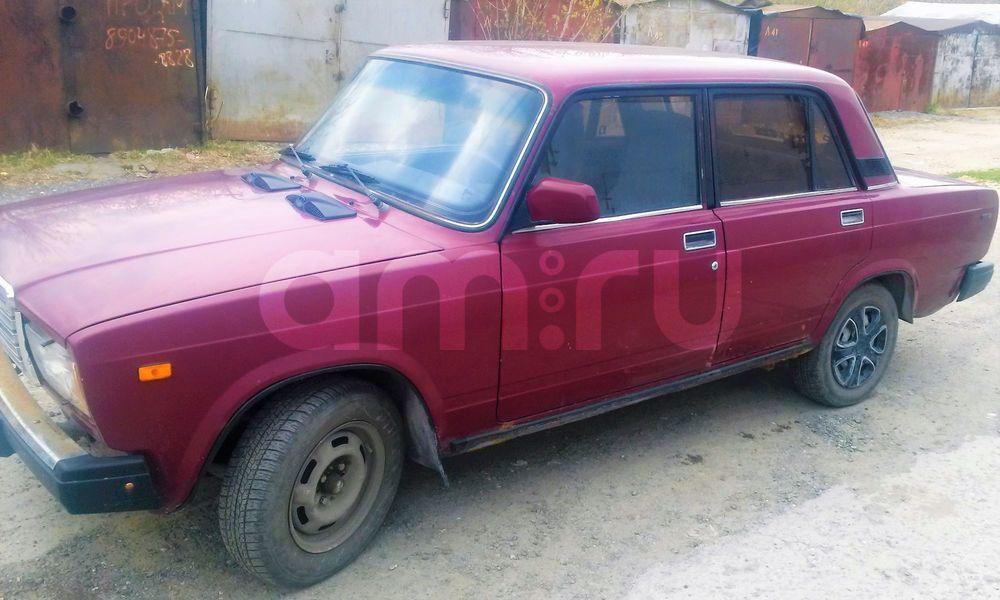Подержанный ВАЗ (Lada) 2107, отличное состояние, красный , 2004 года выпуска, цена 50 000 руб. в Тюмени