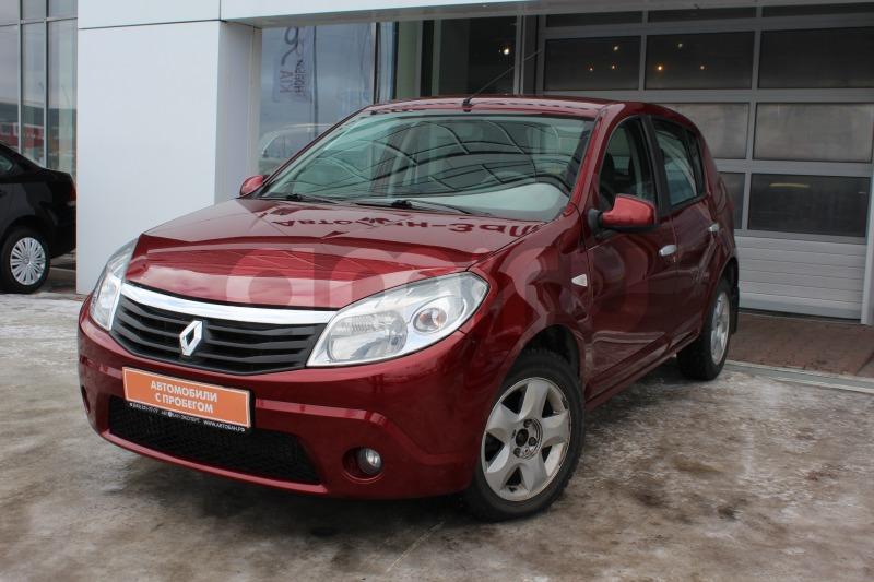 Renault Sandero с пробегом, красный , отличное состояние, 2011 года выпуска, цена 389 000 руб. в автосалоне Автобан-Запад (Екатеринбург, ул. Металлургов, д. 67)