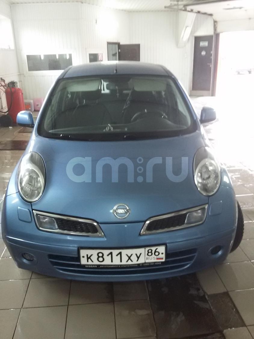 Подержанный Nissan Micra, хорошее состояние, голубой перламутр, 2010 года выпуска, цена 420 000 руб. в ао. Ханты-Мансийском Автономном округе - Югре