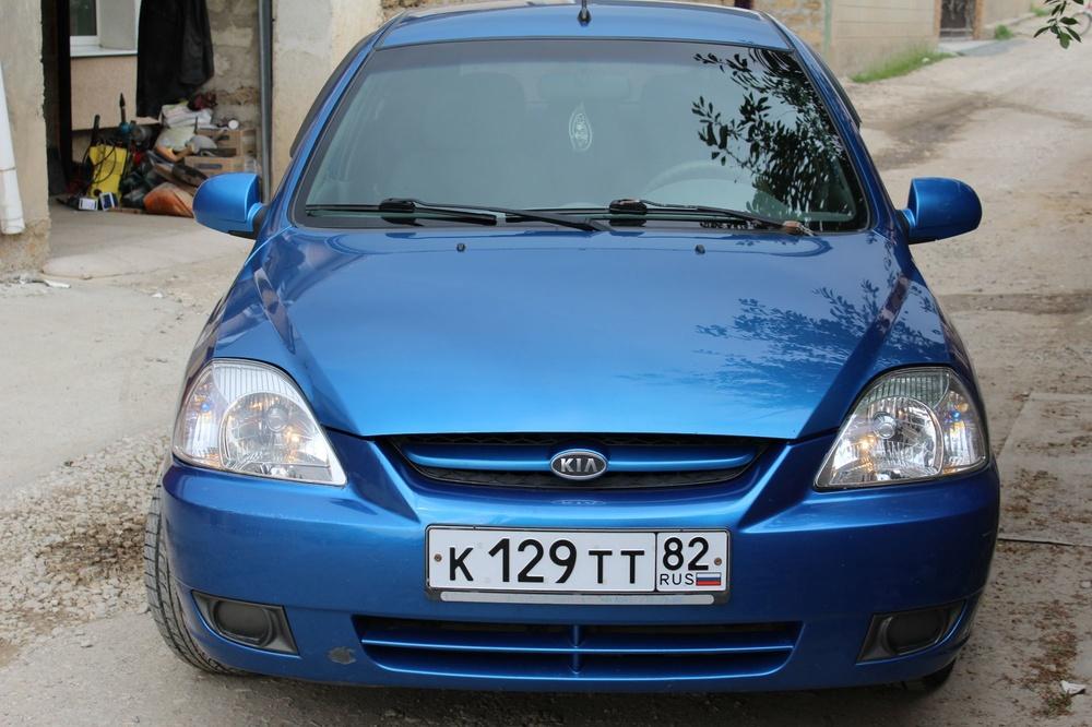 Подержанный Kia Rio, отличное состояние, синий , 2003 года выпуска, цена 250 000 руб. в Крыму