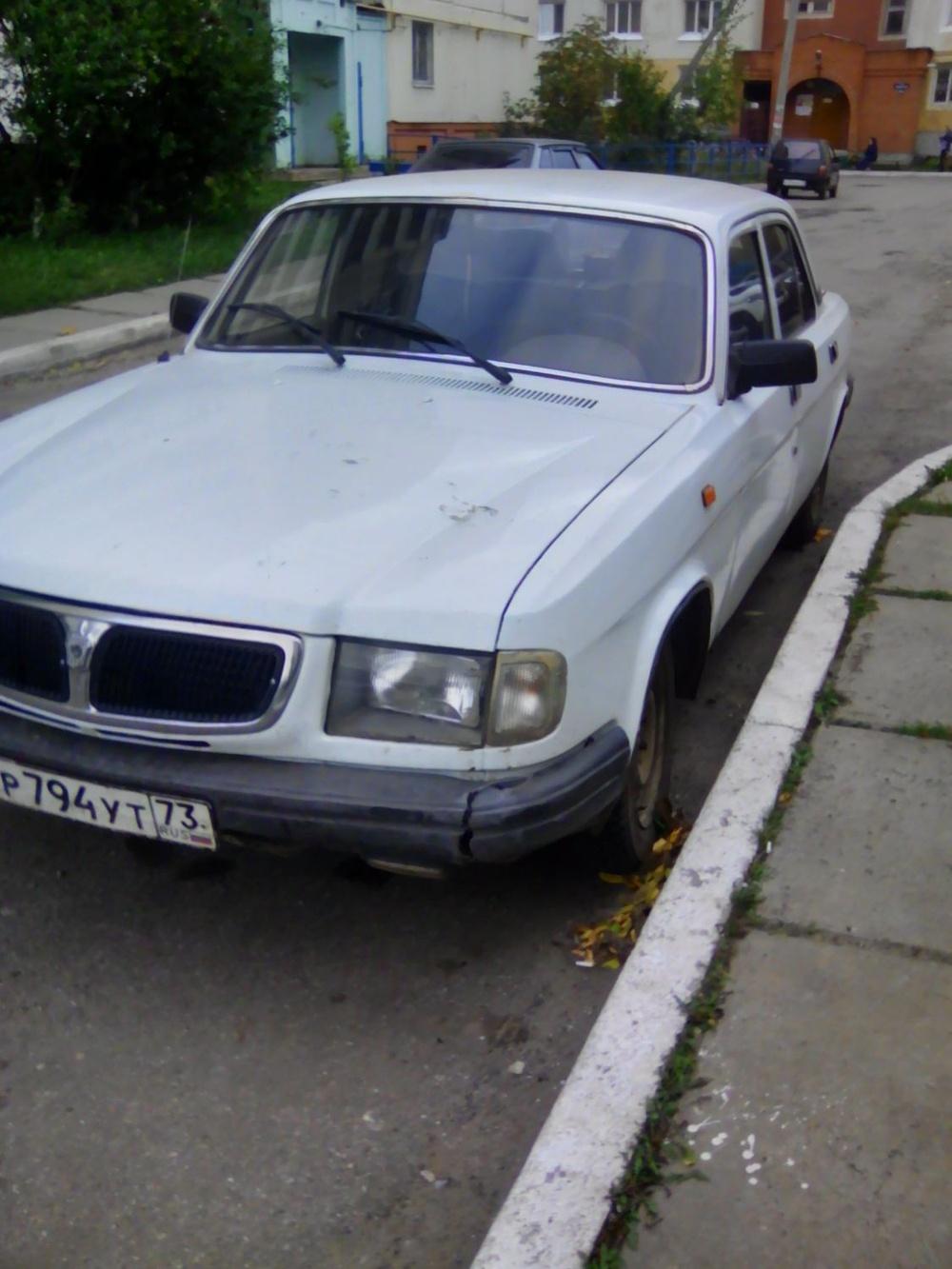 Подержанный ГАЗ 3110 Волга, хорошее состояние, белый , 1998 года выпуска, цена 45 000 руб. в Ульяновской области