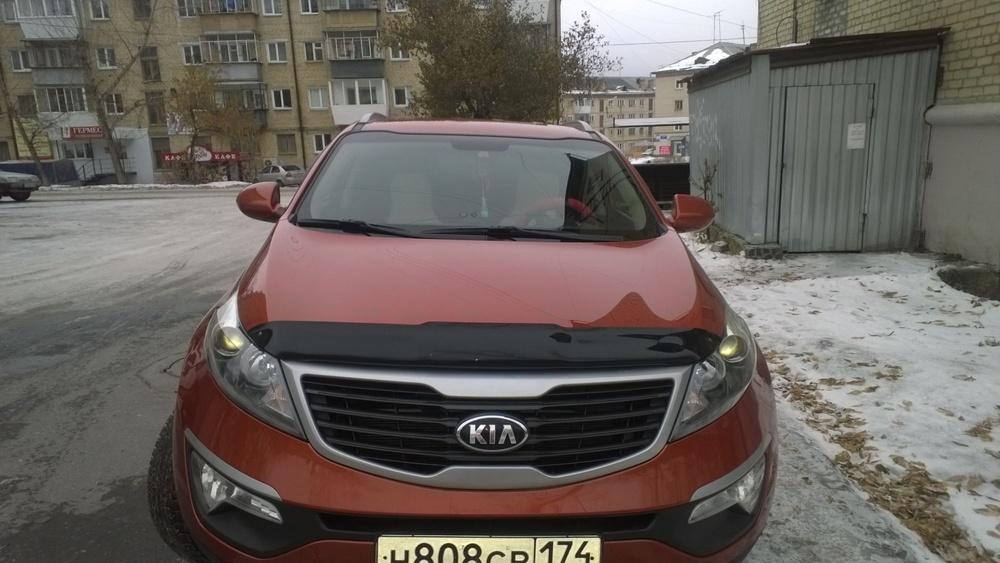Подержанный Kia Sportage, отличное состояние, оранжевый , 2013 года выпуска, цена 800 000 руб. в Челябинской области
