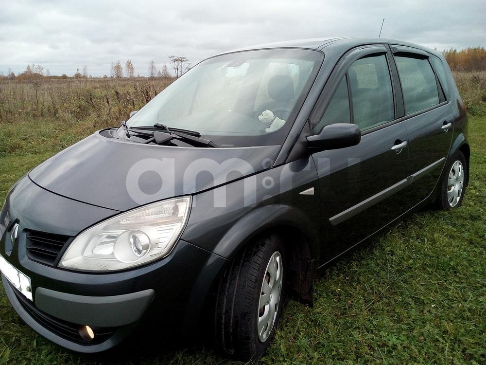 Подержанный Renault Scenic, хорошее состояние, черный , 2008 года выпуска, цена 430 000 руб. в Тверской области