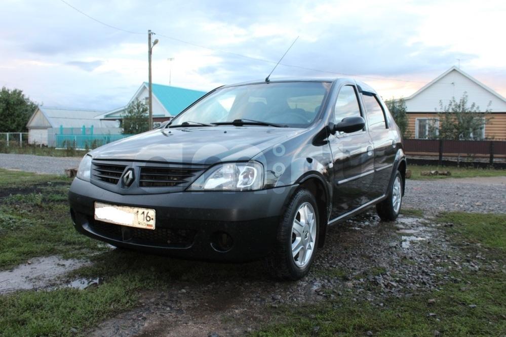 Подержанный Renault Logan, хорошее состояние, черный , 2009 года выпуска, цена 210 000 руб. в республике Татарстане