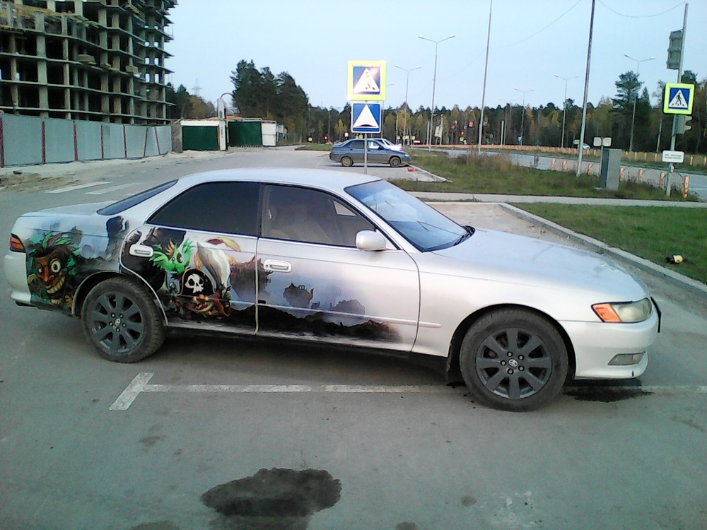 Подержанный Toyota Mark II, хорошее состояние, серебряный , 1995 года выпуска, цена 215 000 руб. в ао. Ханты-Мансийском Автономном округе - Югре