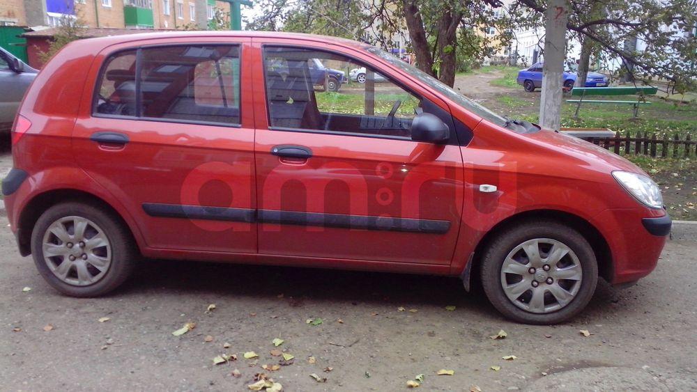 Подержанный Hyundai Getz, отличное состояние, красный металлик, 2008 года выпуска, цена 330 000 руб. в республике Татарстане