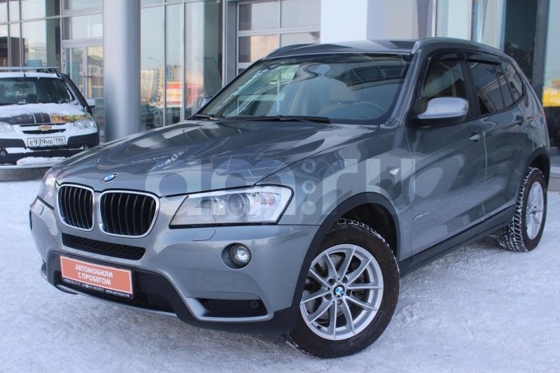 BMW X3 с пробегом, серый , отличное состояние, 2013 года выпуска, цена 1 399 000 руб. в автосалоне Автобан-Запад (Екатеринбург, ул. Металлургов, д. 67)