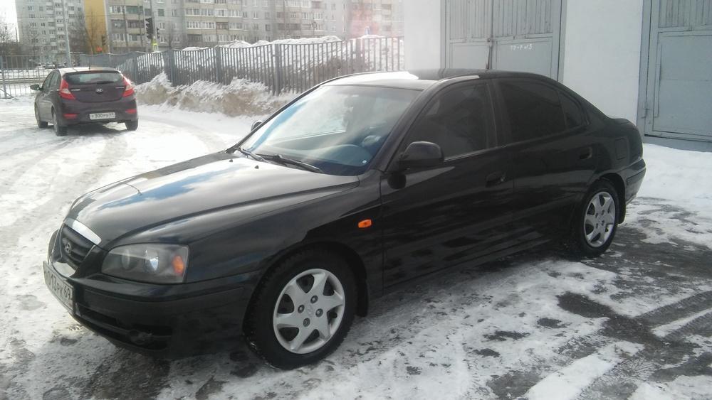 Подержанный Hyundai Elantra, хорошее состояние, черный , 2006 года выпуска, цена 250 000 руб. в Твери