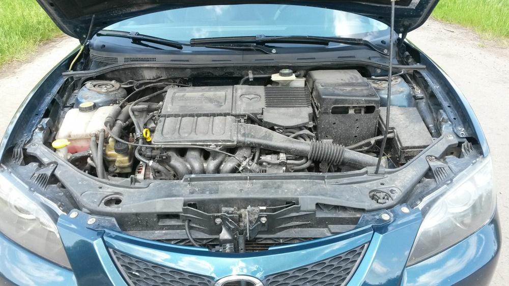Подержанный Mazda 3, хорошее состояние, бирюзовый металлик, 2007 года выпуска, цена 350 000 руб. в Воронежской области