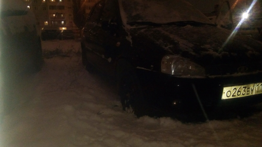 Подержанный ВАЗ (Lada) Kalina, хорошее состояние, черный , 2012 года выпуска, цена 200 000 руб. в республике Татарстане