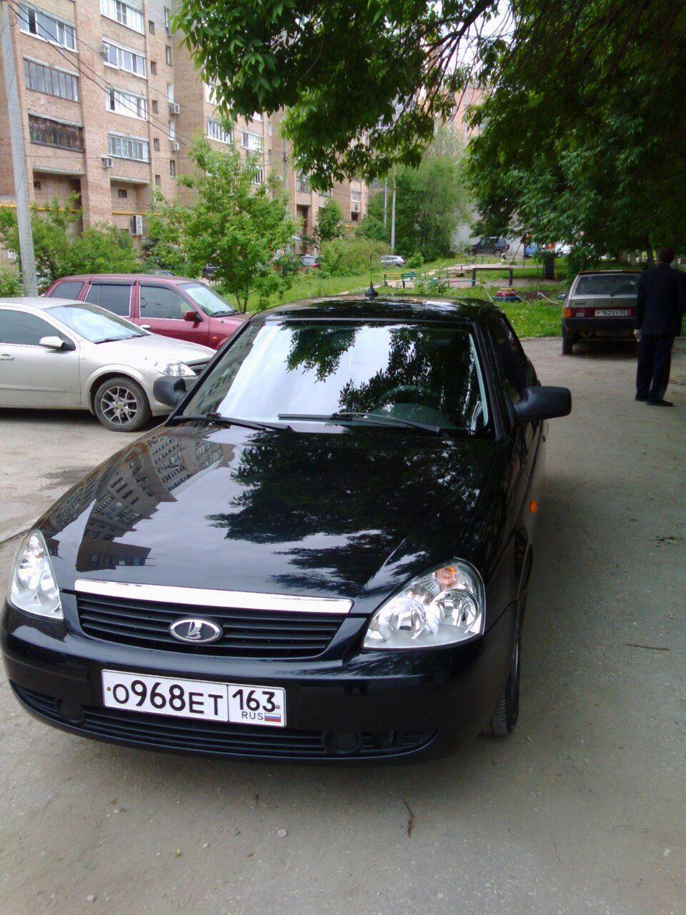 Подержанный ВАЗ (Lada) Priora, хорошее состояние, черный , 2011 года выпуска, цена 235 000 руб. в Самаре