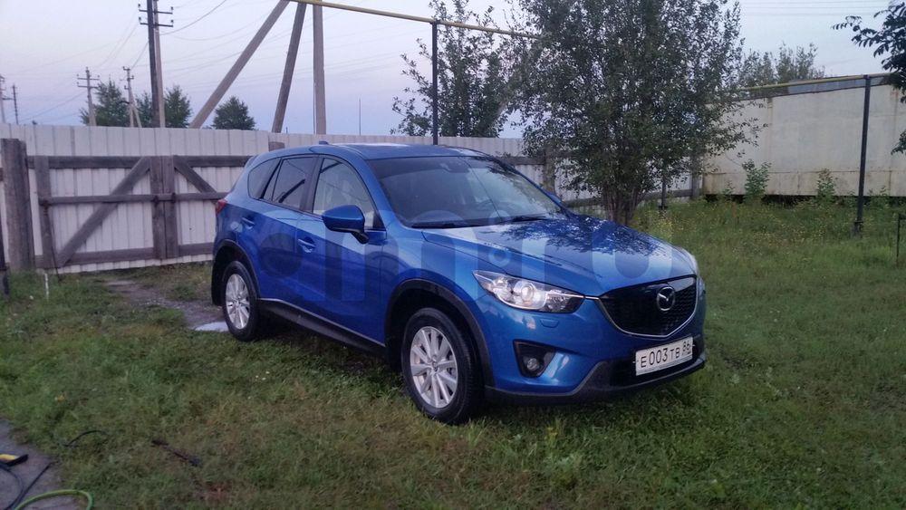 Подержанный Mazda CX-5, отличное состояние, синий металлик, 2012 года выпуска, цена 1 040 000 руб. в ао. Ханты-Мансийском Автономном округе - Югре
