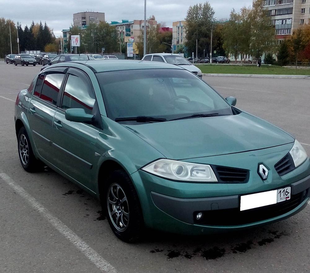 Подержанный Renault Megane, хорошее состояние, зеленый , 2007 года выпуска, цена 275 000 руб. в республике Татарстане