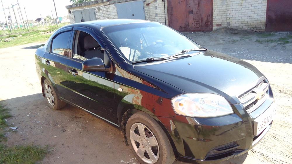 Подержанный Chevrolet Aveo, хорошее состояние, черный , 2006 года выпуска, цена 220 000 руб. в Челябинской области