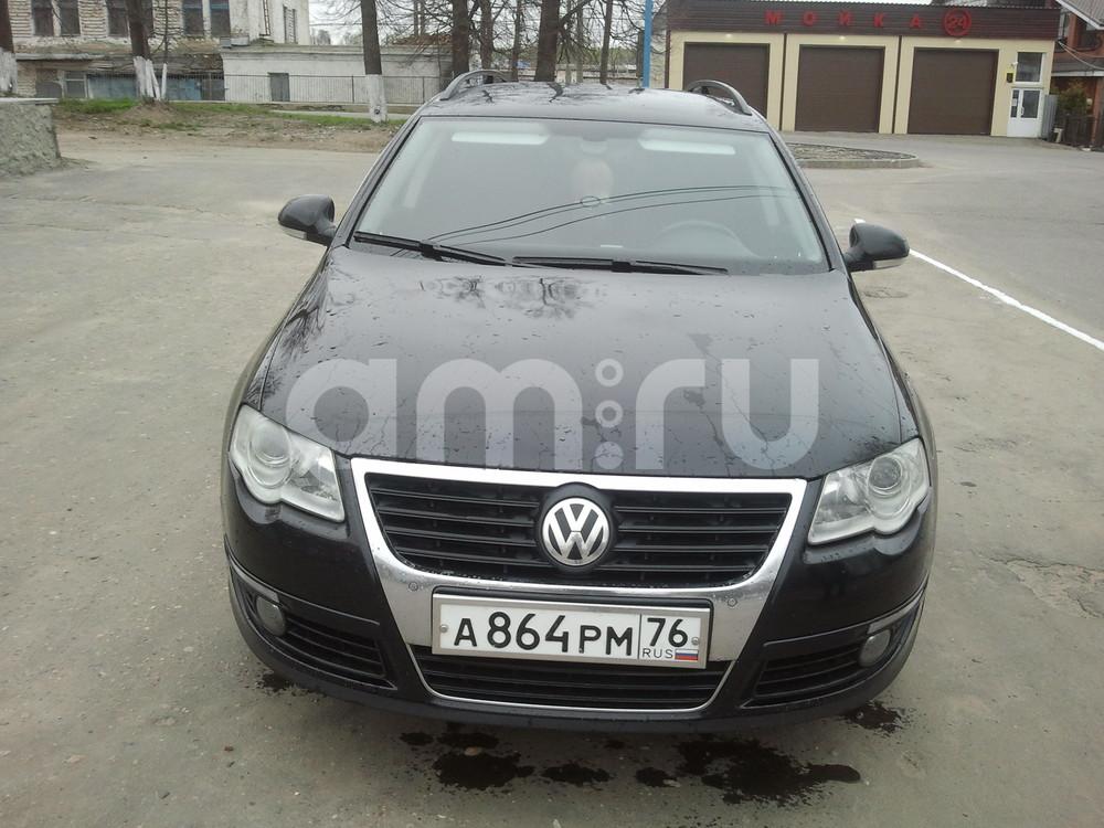Подержанный Volkswagen Passat, отличное состояние, черный акрил, 2007 года выпуска, цена 600 000 руб. в Костромской области