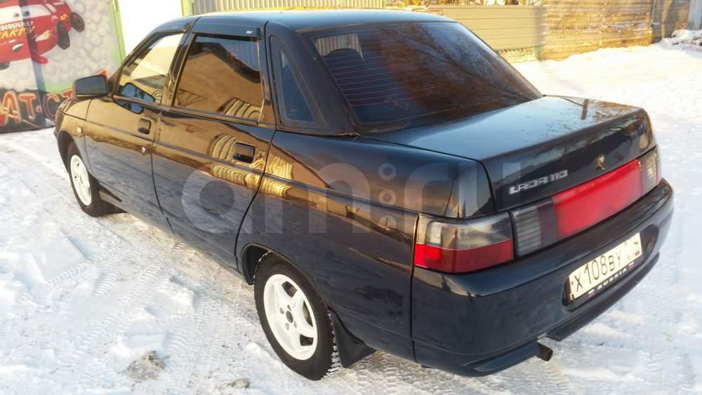 Подержанный ВАЗ (Lada) 2110, отличное состояние, черный металлик, 2007 года выпуска, цена 145 000 руб. в Челябинской области