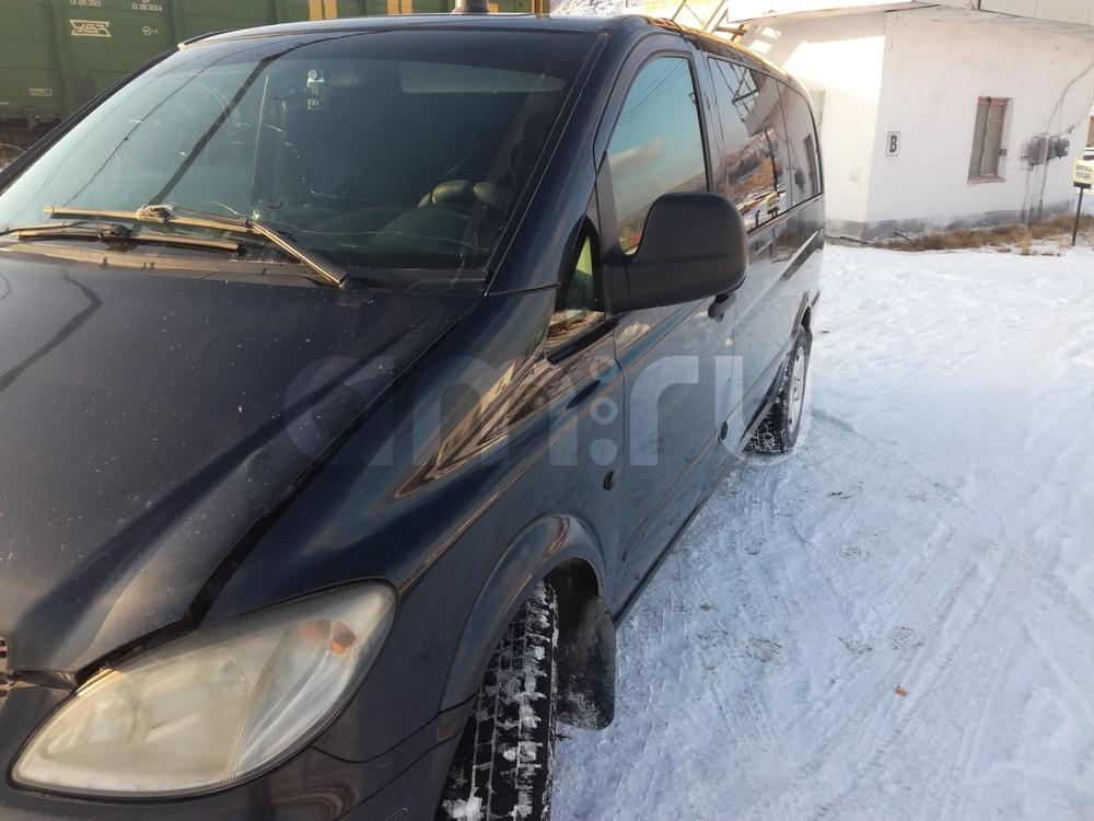 Подержанный Mercedes-Benz Vito, плохое состояние, черный матовый, 2005 года выпуска, цена 510 000 руб. в Челябинской области