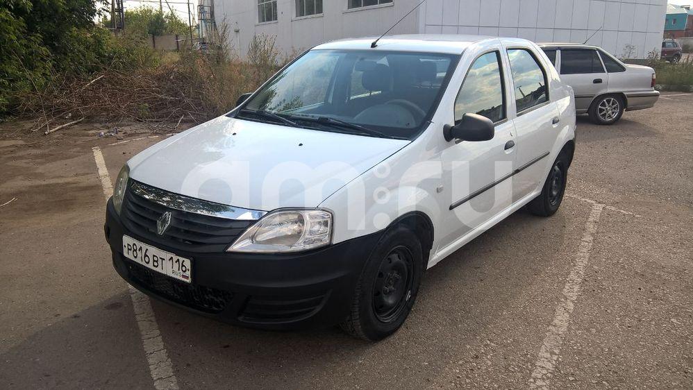 Подержанный Renault Logan, хорошее состояние, белый , 2012 года выпуска, цена 235 000 руб. в республике Татарстане