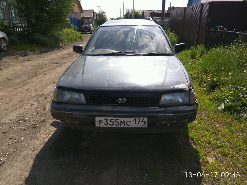 Подержанный Subaru Legacy, среднее состояние, синий , 1992 года выпуска, цена 55 000 руб. в Челябинской области