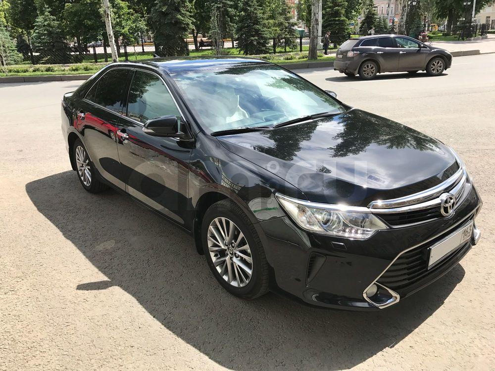 Подержанный Toyota Camry, отличное состояние, черный , 2016 года выпуска, цена 1 550 000 руб. в Самаре