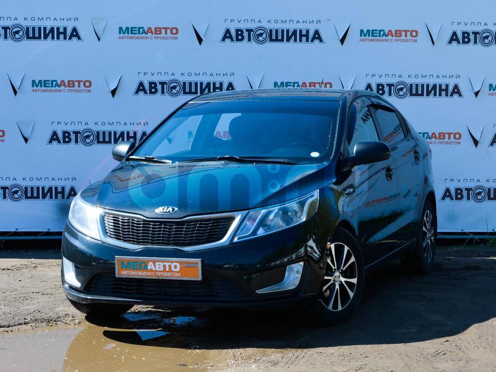 Kia Rio с пробегом, черный , отличное состояние, 2014 года выпуска, цена 520 000 руб. в автосалоне Мега Авто Калуга (Калуга, ул. Зерновая, д. 28)