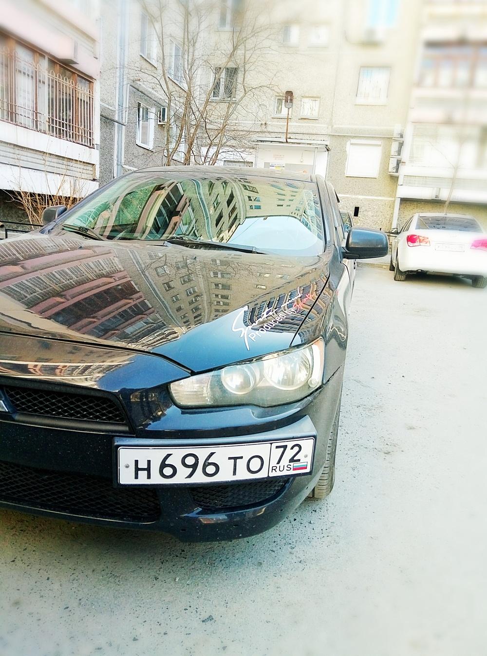 Подержанный Mitsubishi Lancer, хорошее состояние, черный металлик, 2008 года выпуска, цена 430 000 руб. в Екатеринбурге