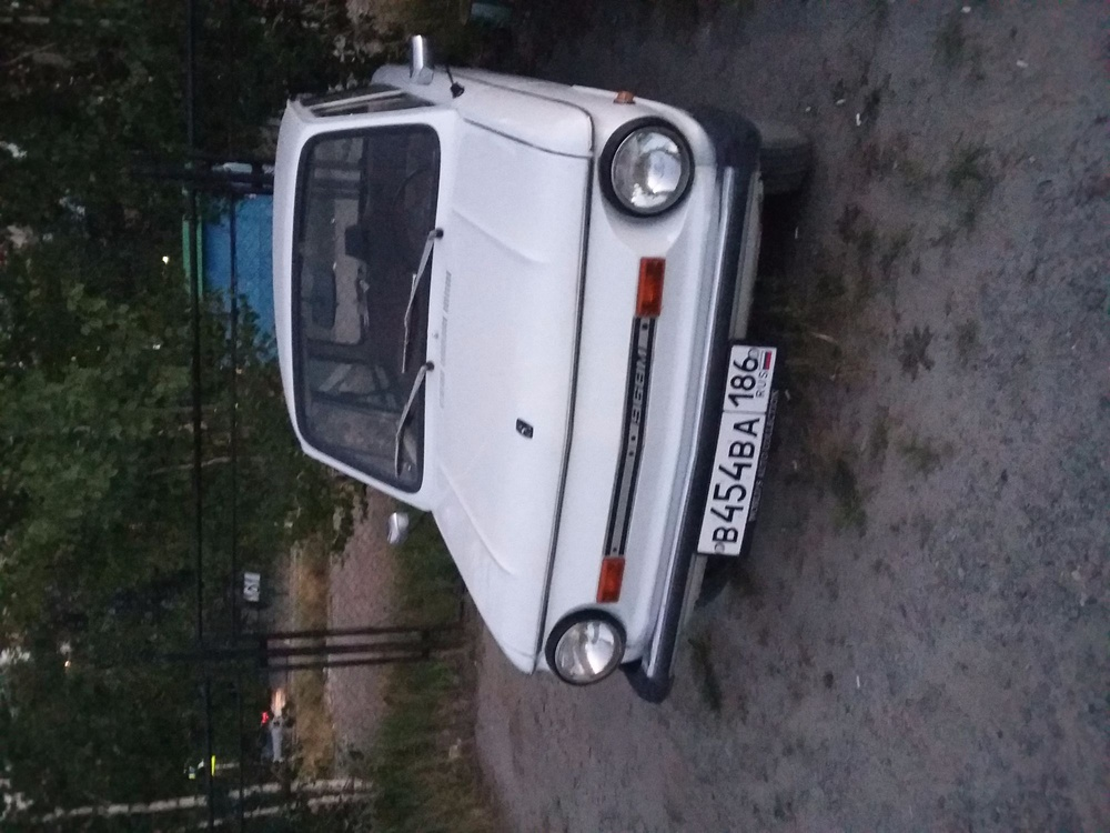Подержанный ЗАЗ 968, отличное состояние, белый акрил, 1991 года выпуска, цена 100 000 руб. в ао. Ханты-Мансийском Автономном округе - Югре