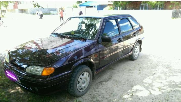 Подержанный ВАЗ (Lada) 2114, отличное состояние, пурпурный металлик, 2013 года выпуска, цена 250 000 руб. в ао. Ханты-Мансийском Автономном округе - Югре