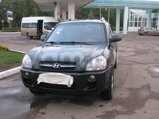 Подержанный Hyundai Tucson, хорошее состояние, черный перламутр, 2005 года выпуска, цена 450 000 руб. в республике Татарстане