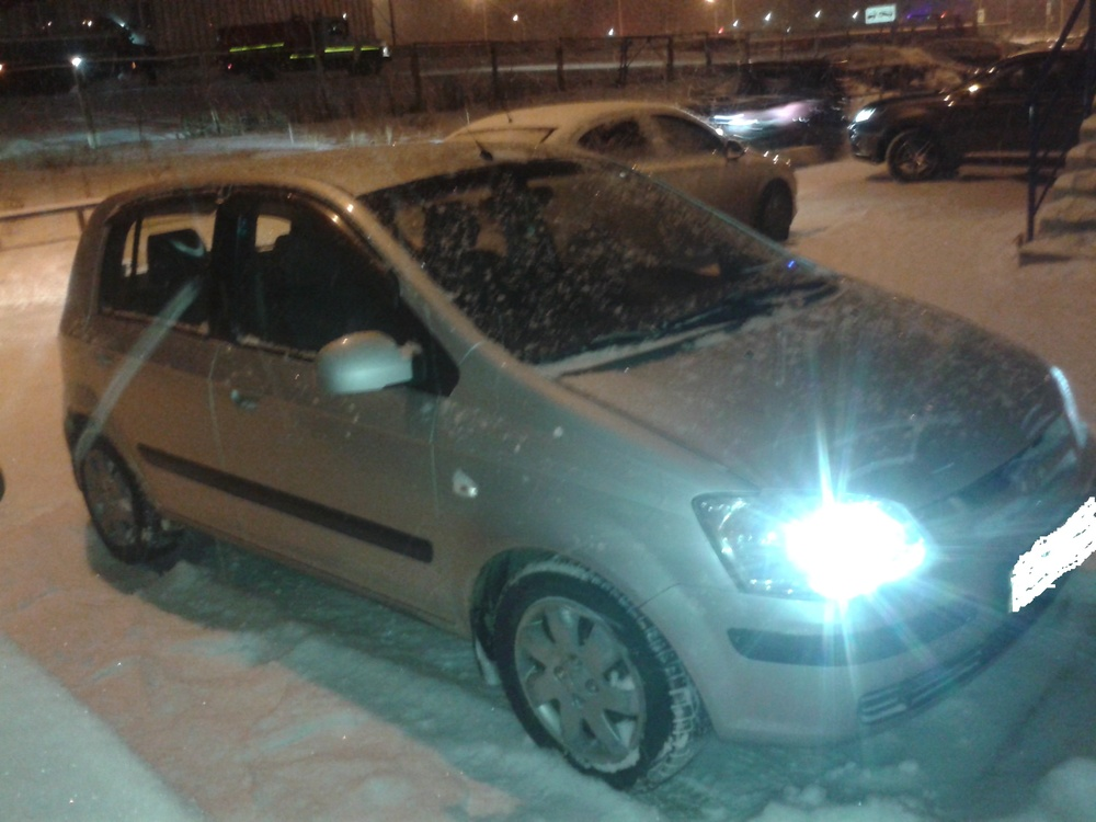 Подержанный Hyundai Getz, хорошее состояние, серебряный , 2003 года выпуска, цена 170 000 руб. в ао. Ханты-Мансийском Автономном округе - Югре