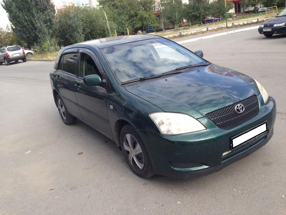 Toyota Corolla с пробегом, зеленый , хорошее состояние, 2004 года выпуска, цена 320 000 руб. в автосалоне  ()