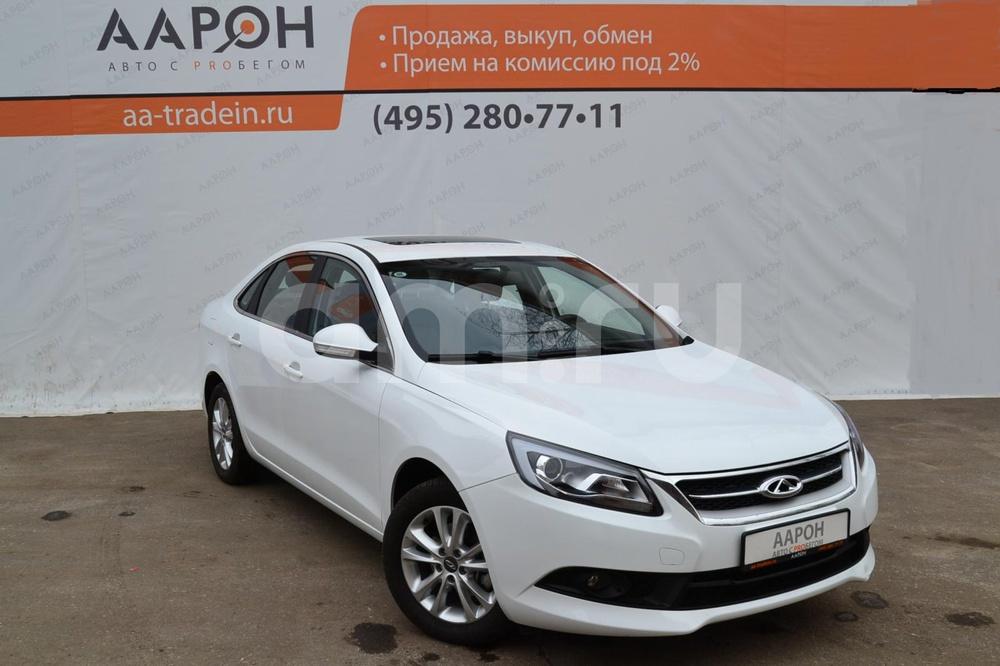 Chery Arrizo 7 с пробегом, белый , отличное состояние, 2014 года выпуска, цена 670 000 руб. в автосалоне ААРОН на Каширском (Москва, ш. Каширское, д. 41)