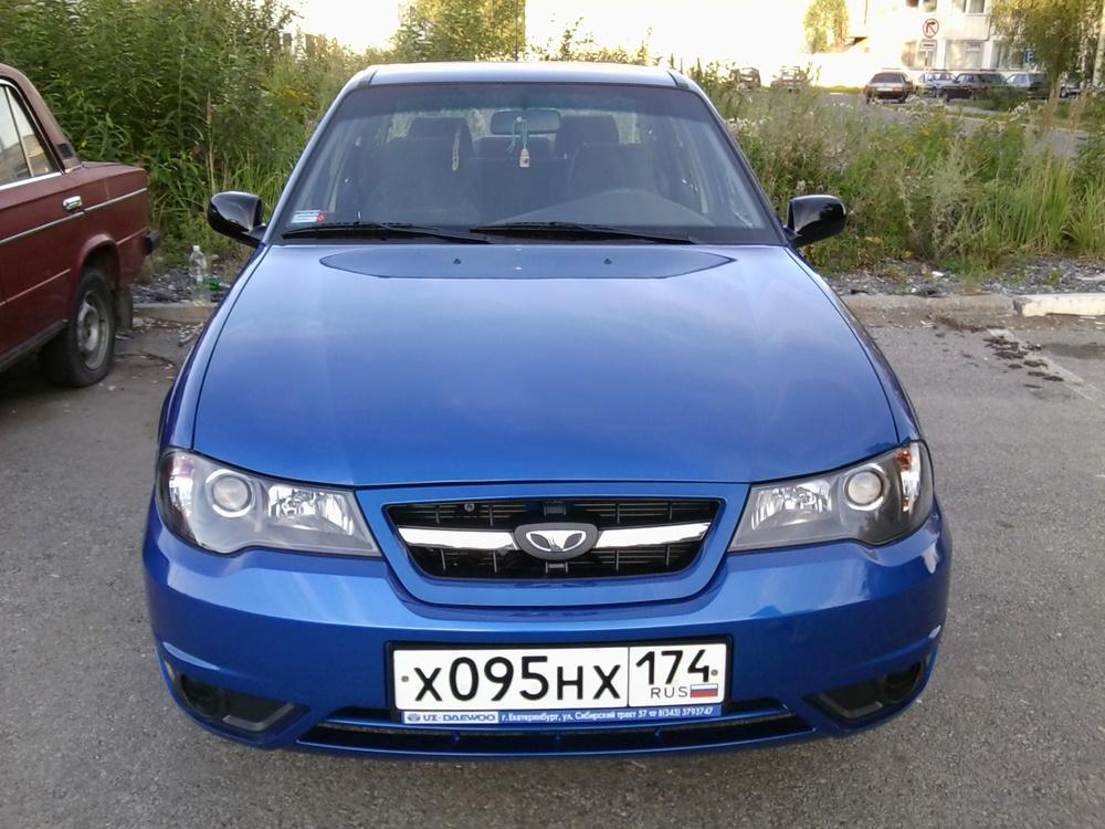 Подержанный Daewoo Nexia, отличное состояние, синий перламутр, 2011 года выпуска, цена 280 000 руб. в Челябинской области
