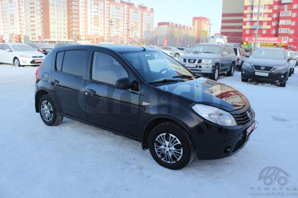 Renault Sandero с пробегом, черный , отличное состояние, 2011 года выпуска, цена 335 000 руб. в автосалоне  ()