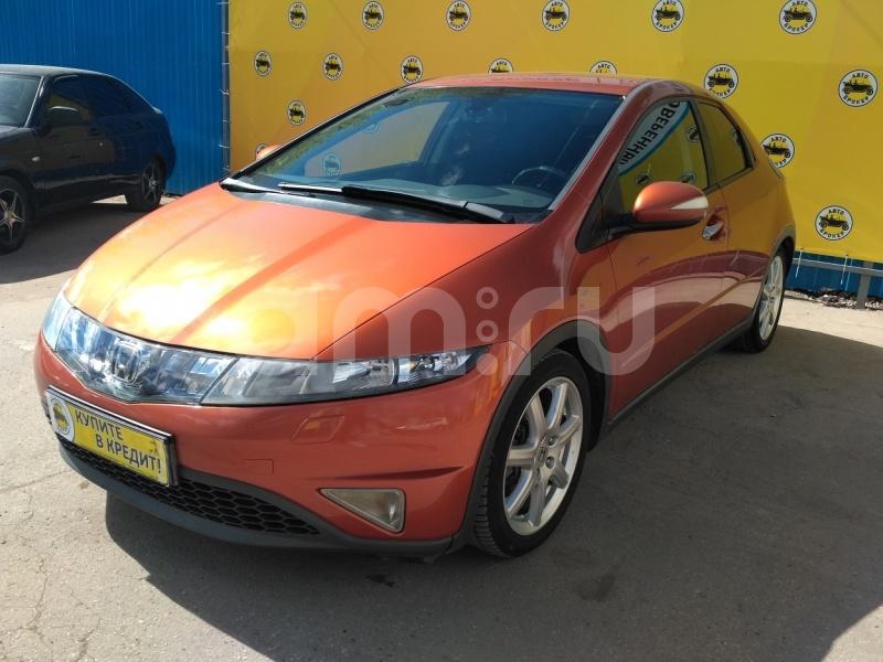 Honda Civic с пробегом, оранжевый , отличное состояние, 2008 года выпуска, цена 545 000 руб. в автосалоне Авто-Брокер на Антонова-Овсеенко (Самара, ул. Антонова-Овсеенко, д. 51Ж)