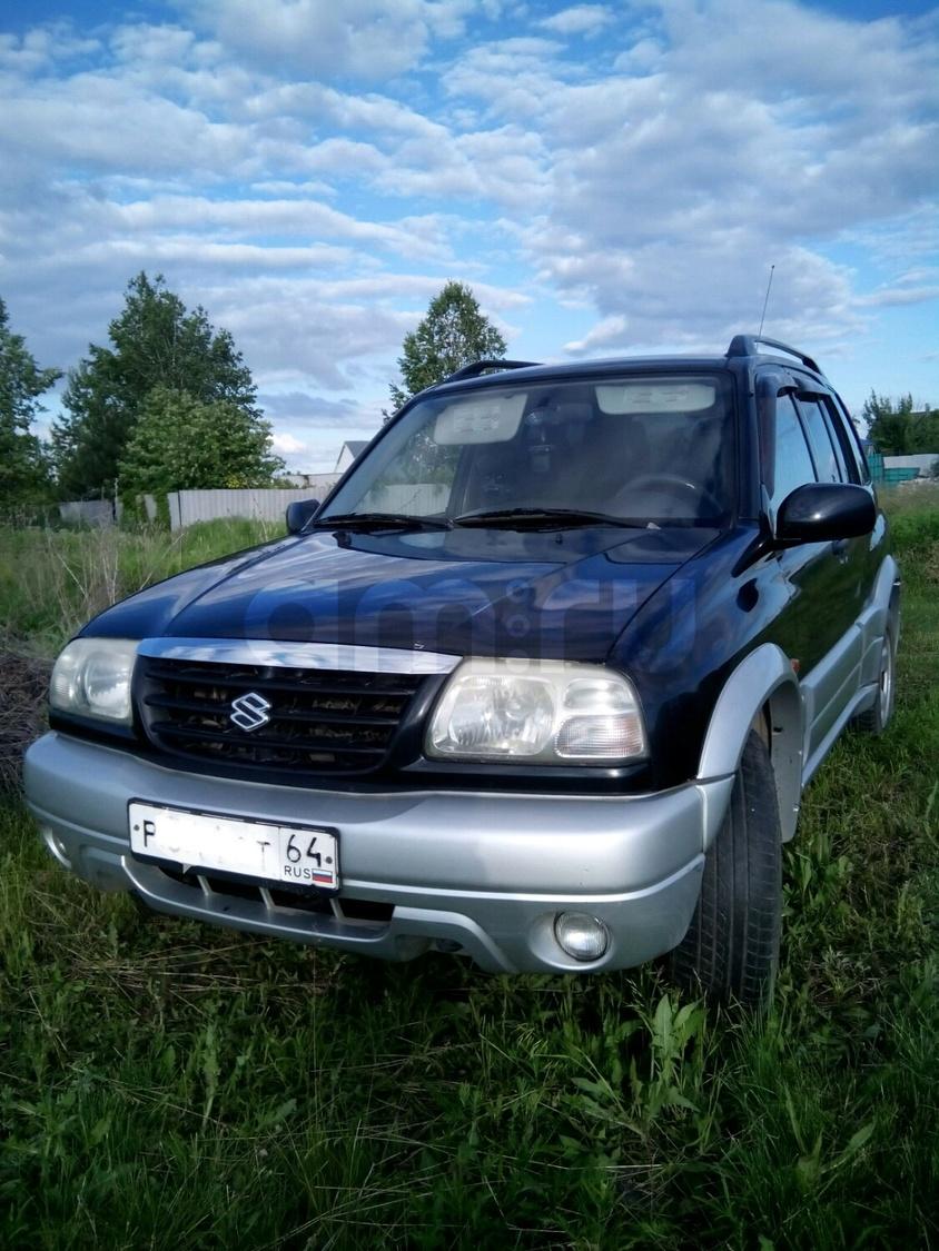 Подержанный Suzuki Grand Vitara, хорошее состояние, черный , 2004 года выпуска, цена 360 000 руб. в Саратове