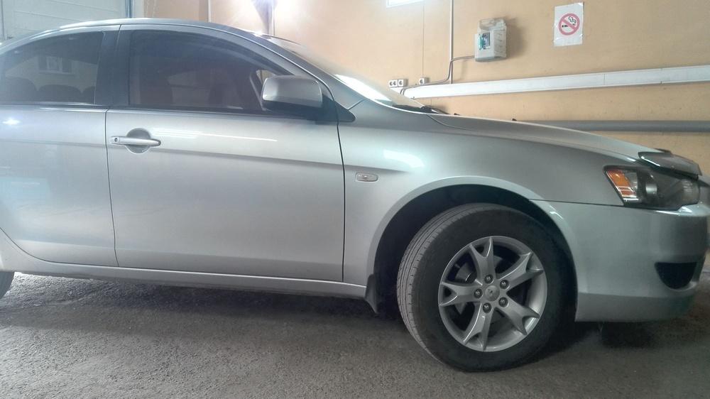Подержанный Mitsubishi Lancer, хорошее состояние, серебряный , 2008 года выпуска, цена 410 000 руб. в Нижнем Новгороде
